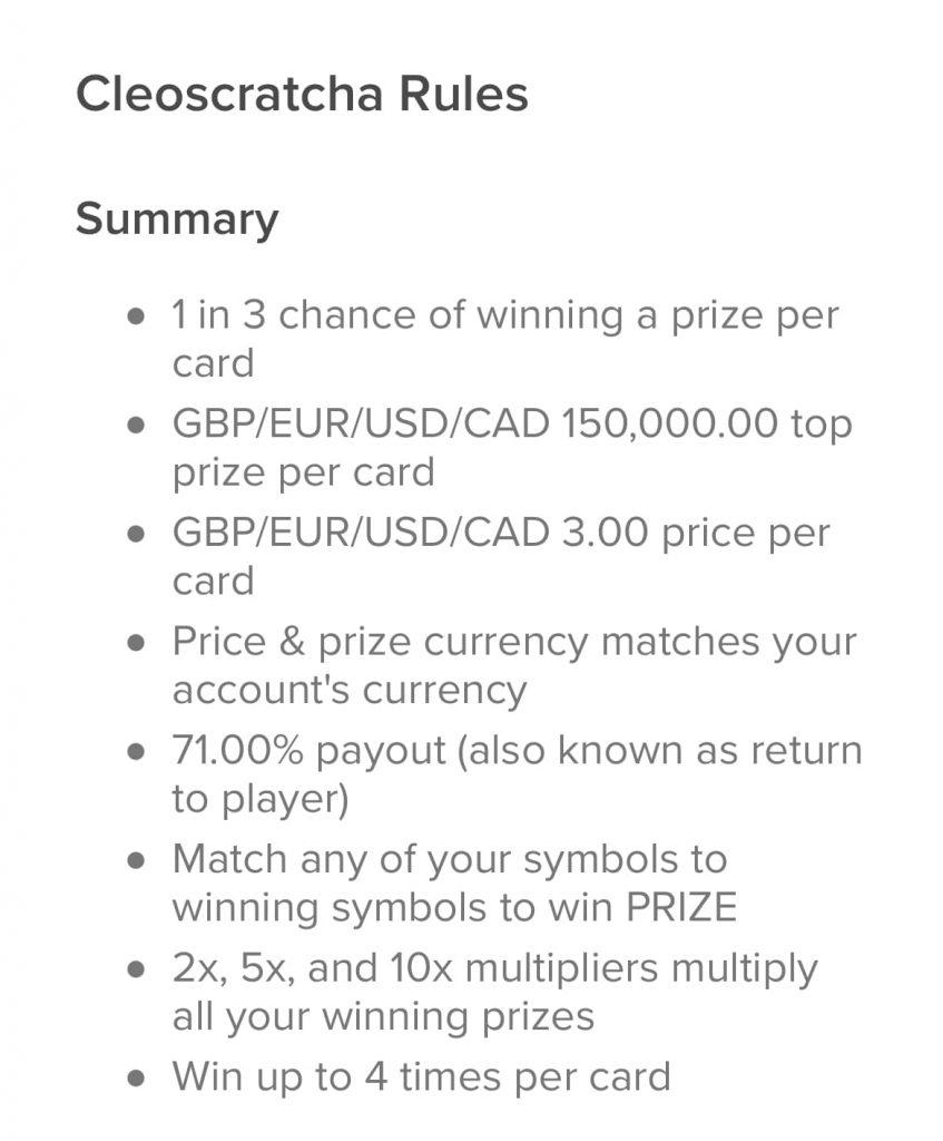 lottomart cleoscratcha odds of winning screenshot
