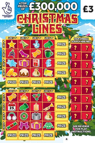 christmas lines scratchcard