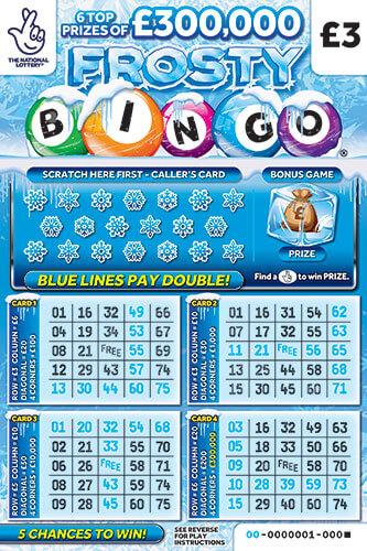 frosty bingo scratchcard