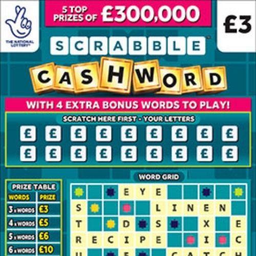 Scrabble Cashword Scratchcard