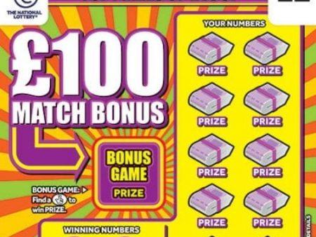 £100 Match Bonus Scratchcard